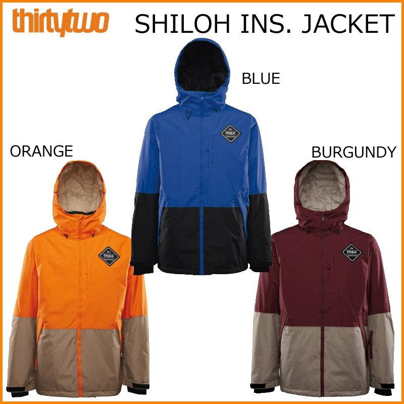 16-17 THIRTYTWO 32 サーティーツー SHILOH INSULATED JACKET ジャケット スノーボード ウェア SNOWBOARD WEAR スノボー サーティートゥー