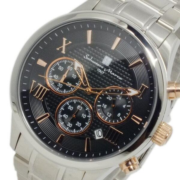 サルバトーレマーラ 腕時計 クロノグラフ メンズ SM15102-SSBKPG