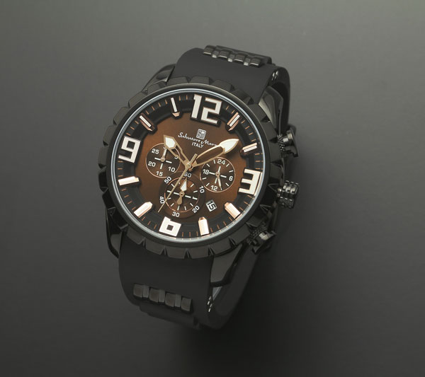 サルバトーレマーラ クロノ クオーツ メンズ 腕時計 SM15107-BKBR