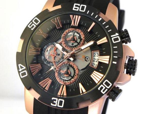サルバトーレマーラ クロノ クオーツ メンズ 腕時計 SM15109-PGBK