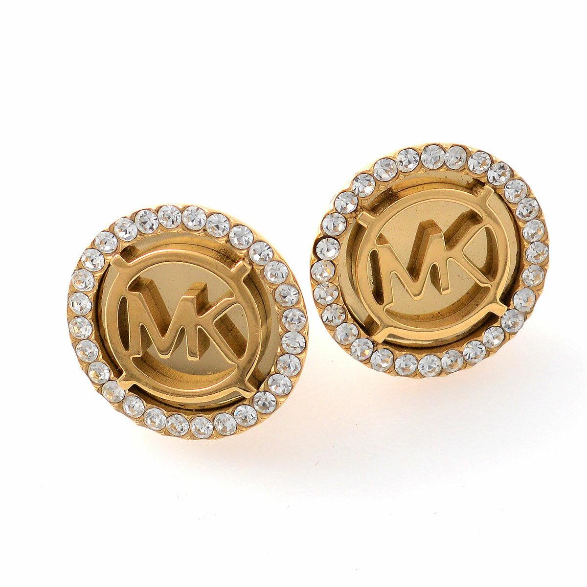 マイケルコース MICHAEL KORS パヴェ ロゴ ディスク ピアス Monogram Pave Logo Gold-Tone Stud Earrings MKJ2941710 ピアス