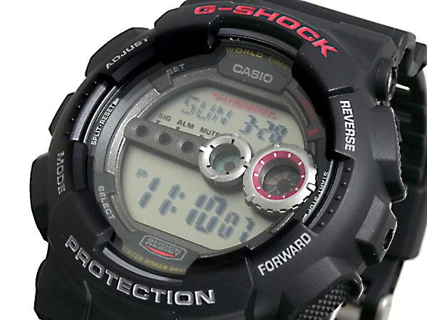 カシオ CASIO Gショック G-SHOCK 逆輸入 高輝度LED メンズ デジタル 腕時計 GD-100-1A ブラック