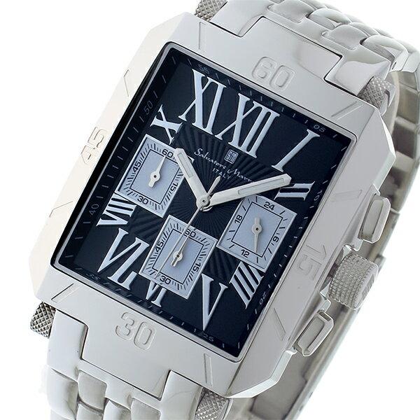 サルバトーレマーラ クロノグラフ クオーツ メンズ 腕時計 SM17117-SSBKSV