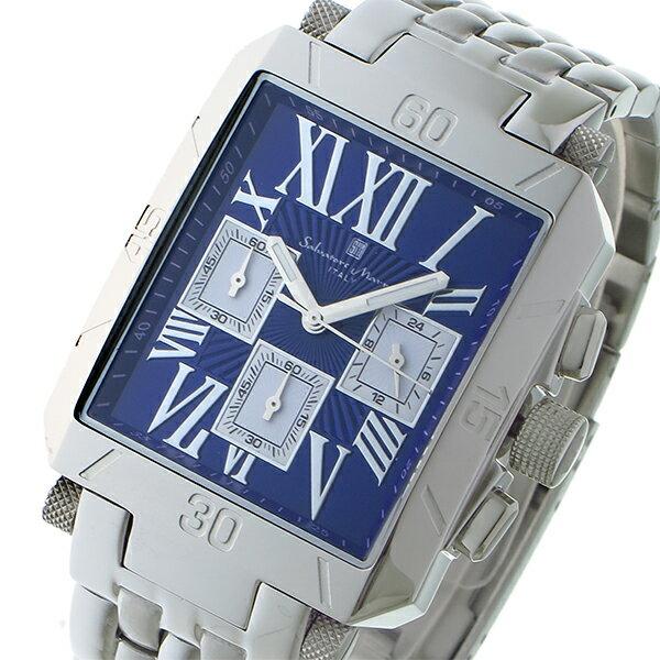 サルバトーレマーラ クロノグラフ クオーツ メンズ 腕時計 SM17117-SSBLSV