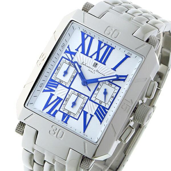 サルバトーレマーラ クロノグラフ クオーツ メンズ 腕時計 SM17117-SSWHBL
