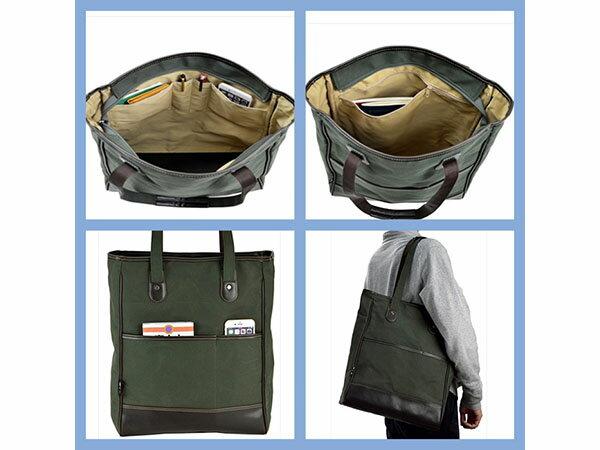鞄の國 帆布シリーズ メンズ ユニセックス トートバッグ 帆布 53414 カーキ  国内正規