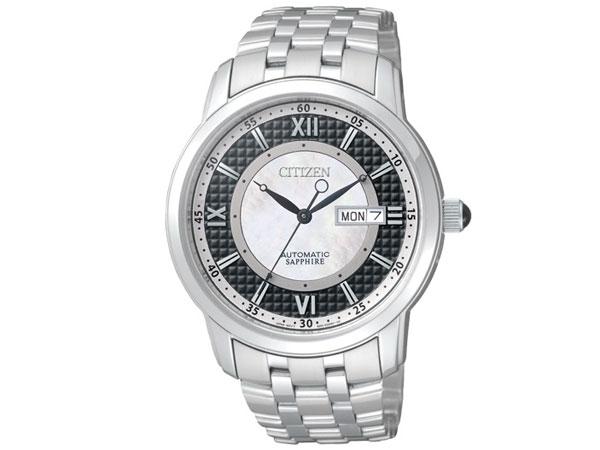 シチズン CITIZEN 逆輸入 自動巻き メカニカル シェル文字盤 メンズ 腕時計 NH8300-57E メタルベルト