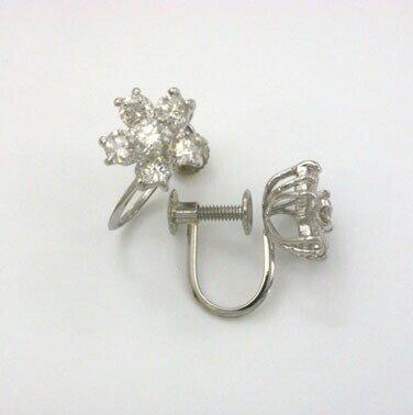 プラチナ(PT900)天然ダイヤ 1ctイヤリングtypeAAA