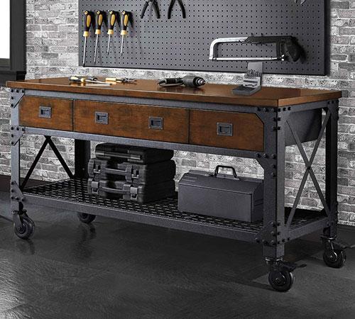 WHALEN 72インチ 工具棚 作業台 ワークベンチ 183×61×高さ94cm