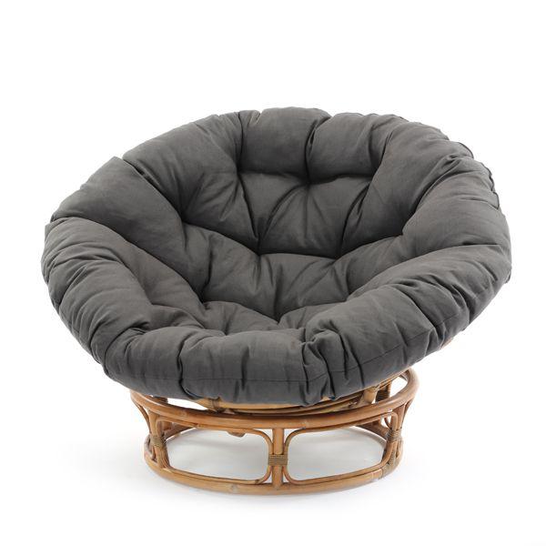 ラウンジチェア インテリア パパサンチェア チェア パラボラチェア リラックスチェア 椅子 いす イス エッグソファー デイベッド ラタン 籐製 リネン クッション ナチュラル 北欧 オシャレ 軽い やわらかい ふわふわ 店舗什器 ディスプレイ パーソナルチェア シンプル シック