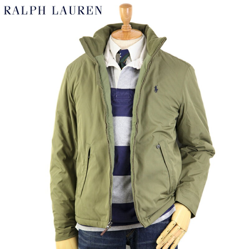 Ralph Lauren Men's Perry Windbreaker (BASIC OLIVE/NAVY) US ポロ ラルフローレン フリースライナー ウインドブレーカー ジャケット 売れ筋 (UPS)