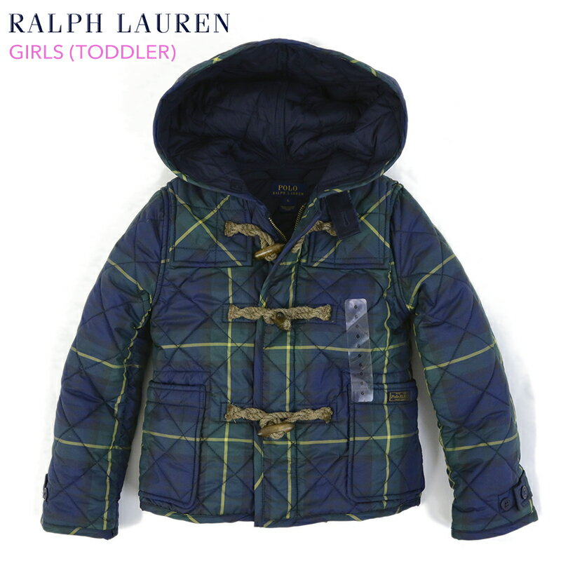 (TODDLER) POLO by Ralph Lauren GIRL (2-6X) Quilted Duffle Coat USラルフローレン 子供用のキルティング ダッフルコート