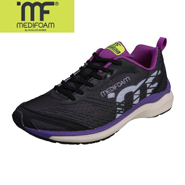 MEDIFOAM/メディフォーム 100 ブラック/パープル  [MFR1000]アキレス・ソルボ/メディフォーム/ランニングシューズ レディース/靴/ACHILLES SORBO