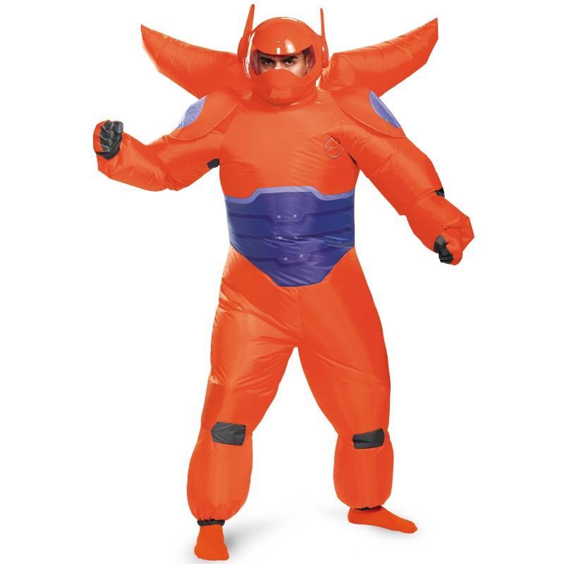 ハロウィン ベイマックス コスチューム マスク付 ディズニー コスプレ ヒーロー 大人 男性 赤いベイマックスの膨らむコスチューム