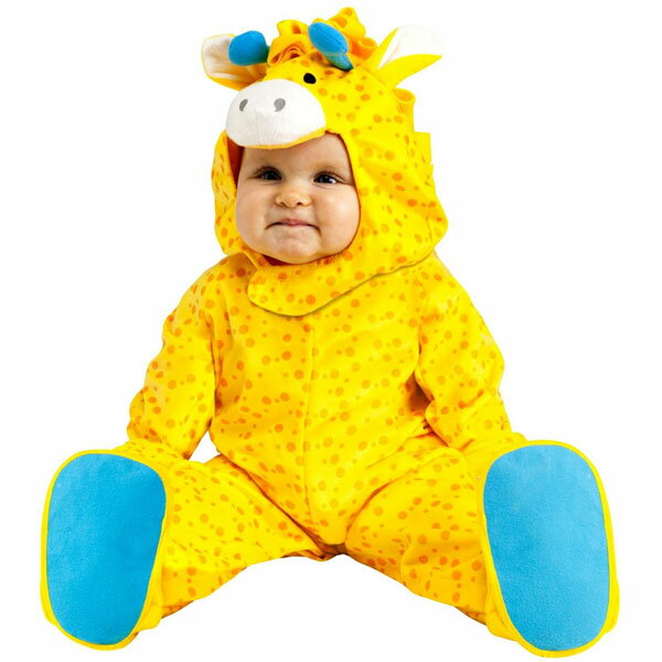 赤ちゃん キリン 幼児用 コスチューム ハロウィン コスプレ パーティー ベビー 黄色 動物 きりん かわいい