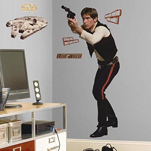 スターウォーズ グッズ 壁紙 ウォールステッカー ハンソロ ファルコン号 デコレーション シール 部屋 飾り 装飾 インテリア 映画 キャラクター