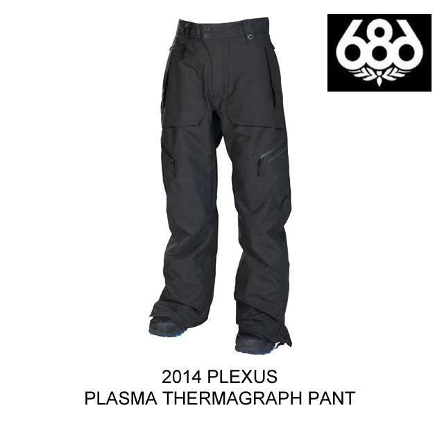 2014 686 シックスエイトシックス パンツ PLEXUS PLASMA THERMAGRAPH PANT BLACK SLUB