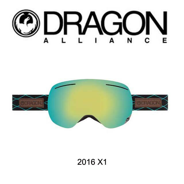 2016 DRAGON ドラゴン ゴーグル GOGGLE X1 LUSH/SMOKE GOLD+YELLOW RED ION