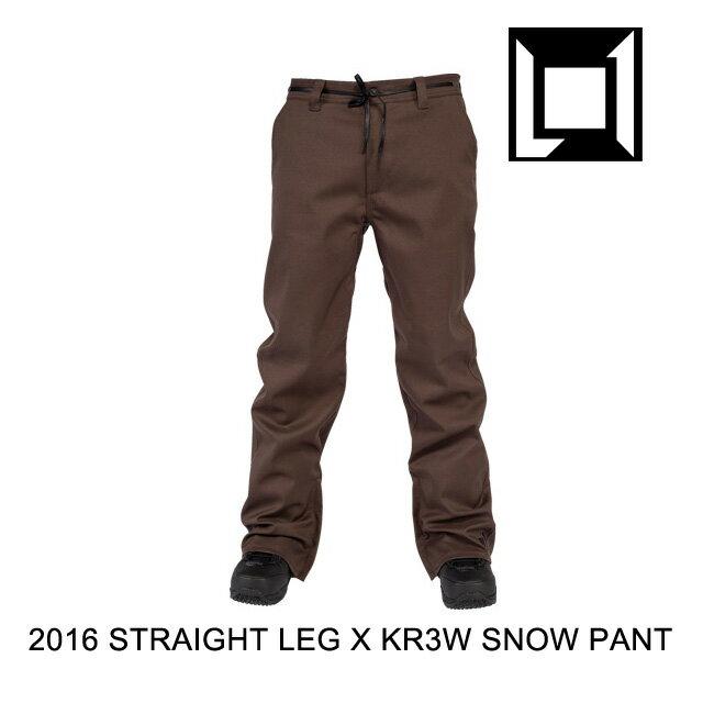 【7日間限定!ポイント最大38倍!12/9~12/16迄】 2016 L1 エルワン パンツ KR3W STRAIGHT LEG PANT KR3W SOIL