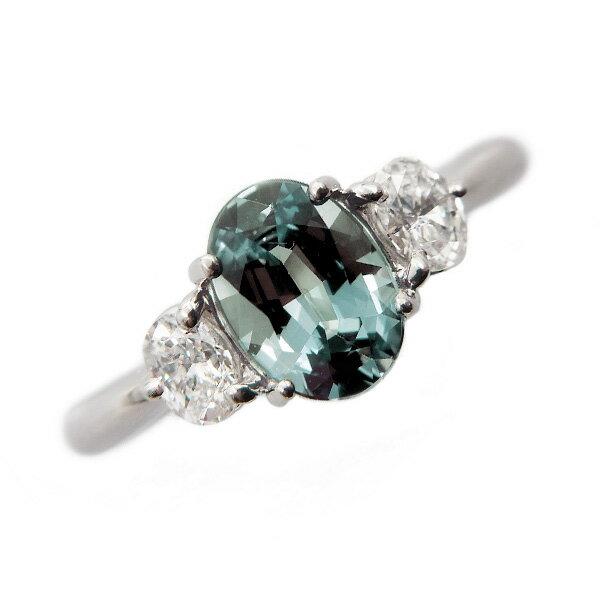 アレキサンドライト リング 1.06ct/脇石ダイヤ 0.35ct(Total) - Pt プラチナ pt900 1ct 1carat 1カラット アレキサンドライト ダイアモンド ダイヤ ダイヤモンドリング ダイアリング diamond 指輪