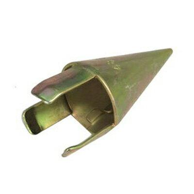 シンセイ 農業用単管 打ち込み先端(ミサイル) φ48.6mm 120個入 ビニールハウス ハウス資材 農業資材