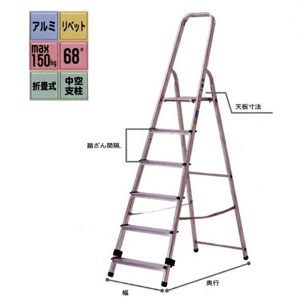 【アルインコ】TBF-8 上枠付踏台 専用脚立 160cmクラス