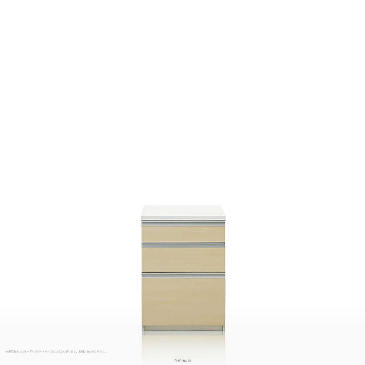 Pamouna(パモウナ) LFシリーズ LF-S600K キッチンカウンター/食器棚の下台 (幅60cm, 奥行き45cm, ライトチェリー)【送料無料 ※対象地域(本州,九州,四国)】【同梱不可】