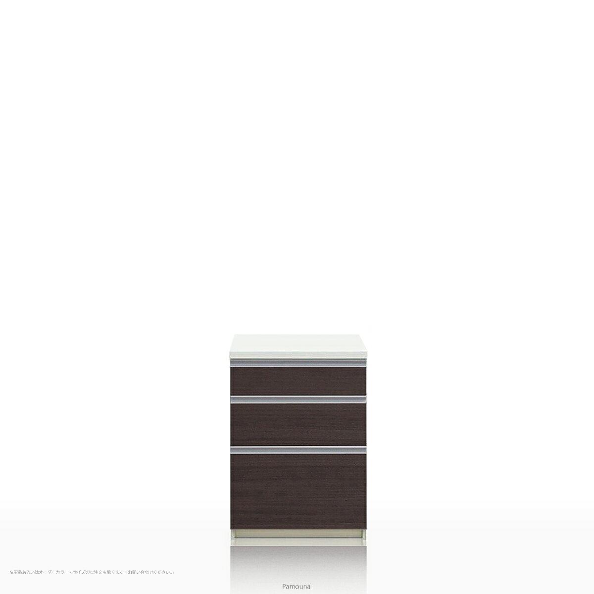 Pamouna(パモウナ) LFシリーズ LF-600K キッチンカウンター/食器棚の下台 (幅60cm, 奥行き50cm, カカオチェリー)【送料無料 ※対象地域(本州,九州,四国)】【同梱不可】