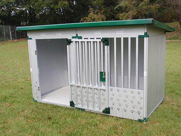 ペット用品 ドッグハウス DFD-1(0.5坪タイプ屋外用犬小屋)床付タイプ【小型犬 中型犬 大型犬 犬小屋 】