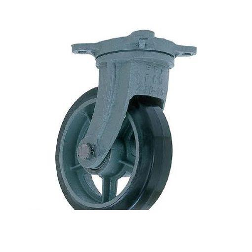 ヨドノ [HBG300X100] 鋳物重荷重用ゴム車輪自在車付き HBーg300X100【送料無料】