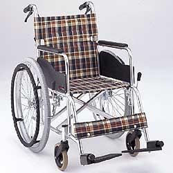 [送料無料]アルミ製自走式車椅子AR-200B