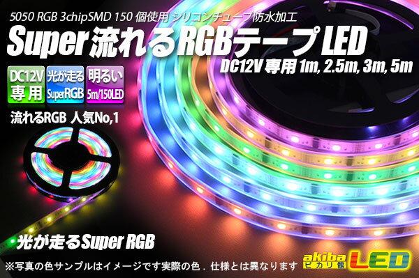 Super流れるRGBテープLED 3m