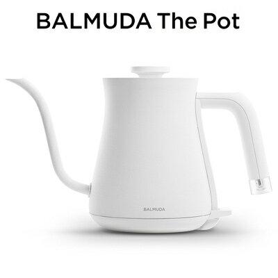 【即納】バルミューダ ステンレス製 電気ケトル 0.6L BALMUDA The Pot K02A-WH ホワイト BALMUDA【送料無料】【KK9N0D18P】