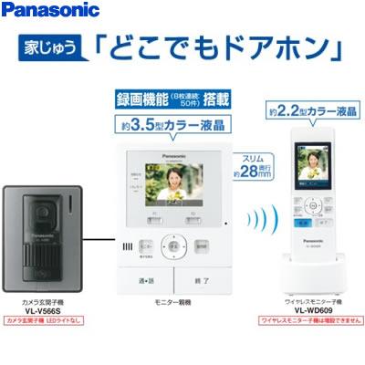 パナソニック ワイヤレスモニター付テレビドアホン どこでもドアホン VL-SWD210K 【送料無料】【KK9N0D18P】