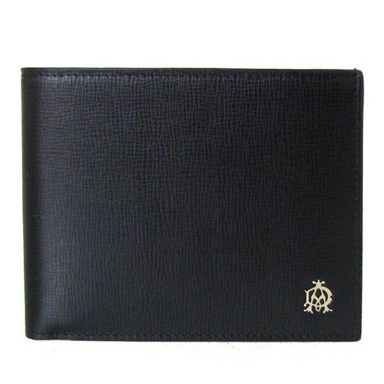 【スマホエントリーでP10倍 9/23 9:59まで】dunhill ダンヒル 財布 二つ折り メンズ ベルグレイブ 小銭入れ付 牛革 ブラック L2S832A