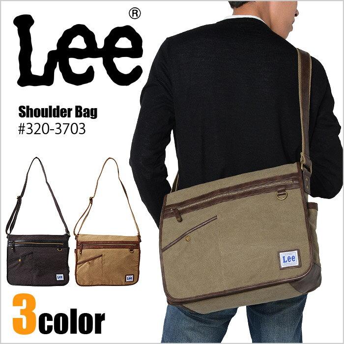 Lee リー ショルダーバッグ メッセンジャーバッグ 撥水加工 コメット シリーズ 320-3703 メンズ A4対応 斜めがけ 合皮 ブランド 送料無料