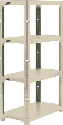 TRUSCO プラ棚 高さ1800-4段タイプ コーナーキャップ4個付【物流保管用品】【物品棚】【プラスチック棚】