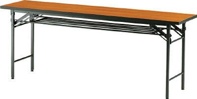 TRUSCO 折りたたみ会議テーブル 1800X600XH700 チーク【オフィス住設用品】【オフィス家具】【会議用テーブル】