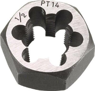 TRUSCO 六角サラエナットダイス PT7/8-14【切削工具】【ねじ切り工具】【ねじ山修正工具】