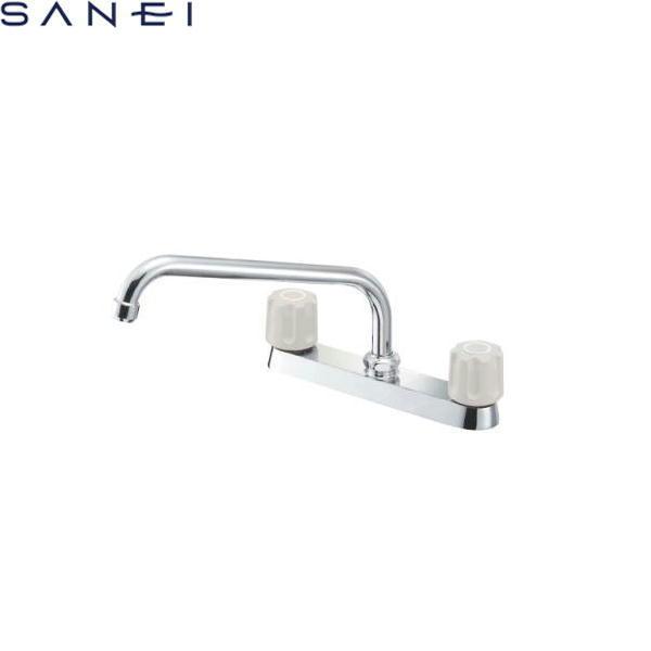 三栄水栓[SAN-EI]ツーバルブ台付混合栓K611-LH[一般地仕様]【送料無料】