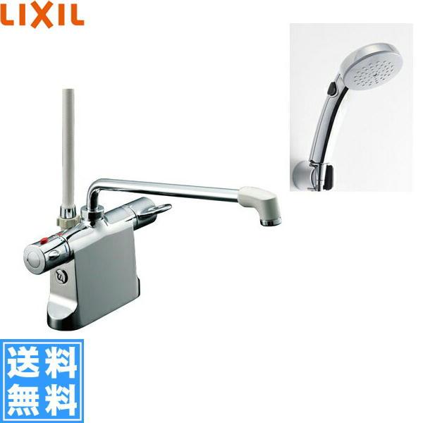 リクシル[LIXIL/INAX]シャワーバス水栓[サーモスタット・デッキタイプ][ビーフィットシリーズ][一般地仕様]BF-B646TSCW(300)-A85【送料無料】