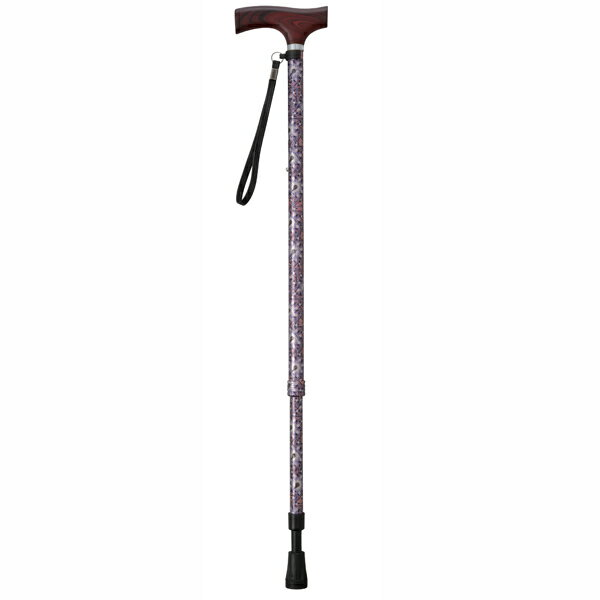 幸和製作所 TacaoF(テイコブ)テイコブ伸縮クッションステッキES11 コバナパープル 伸縮杖