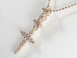 K18PGダイヤ ペンダント ネックレス10P03Dec16【楽ギフ_包装】