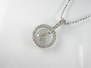 K18WGダイヤ ペンダント ネックレス10P03Dec16【楽ギフ_包装】