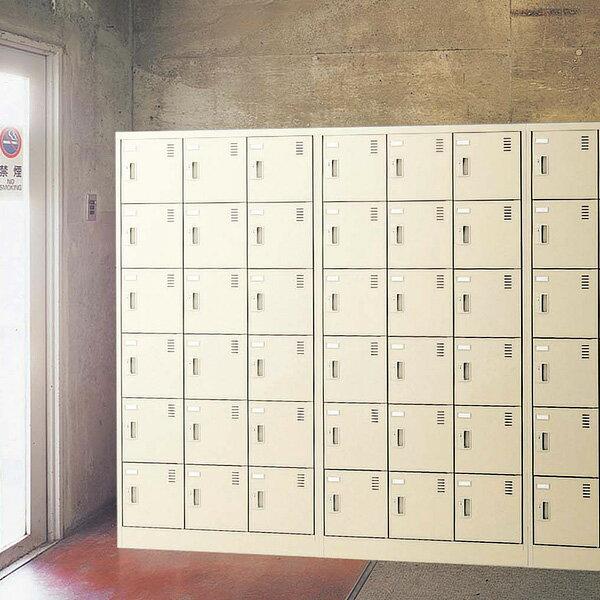 生興 SLCシューズボックス 錠なし取っ手 ニューグレー色 3列3段9人用 W900×D380×H1790 SLC-9T-K【代引不可】