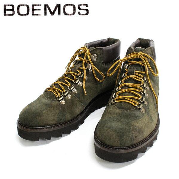 ◇◇ BOEMOS ボエモス 4394 マウンテンブーツ ボア付き カモフラージュ   革靴  メンズ 【イタリア製】