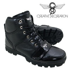 クリエイティブ レクリエーション ブーツ ディオミッド ブラック パテント