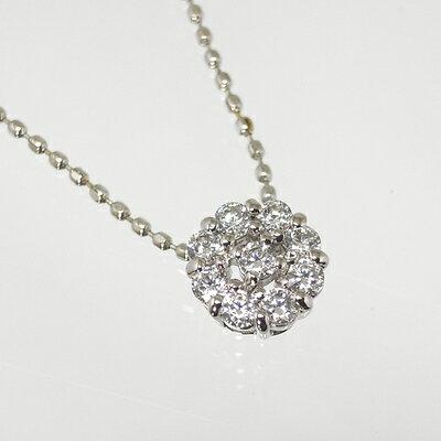 K10ホワイトゴールドダイヤペンダント【ペンダント】【ダイヤモンド】