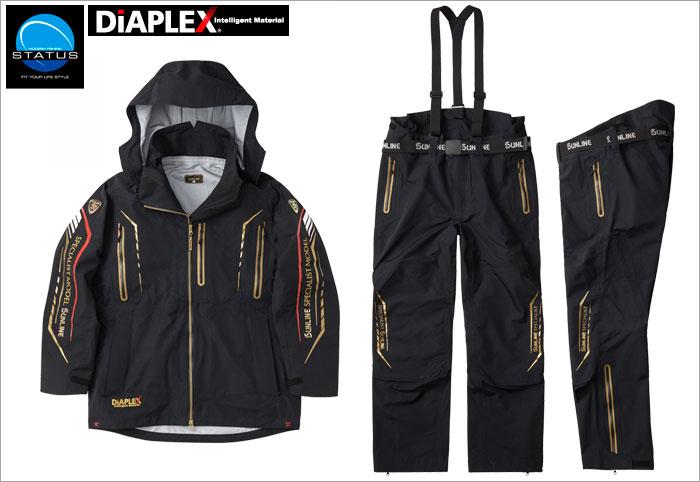 サンライン(sunline) STW-1709  ブラック 3L ステータス・ディアプレックス オールウェザースーツ