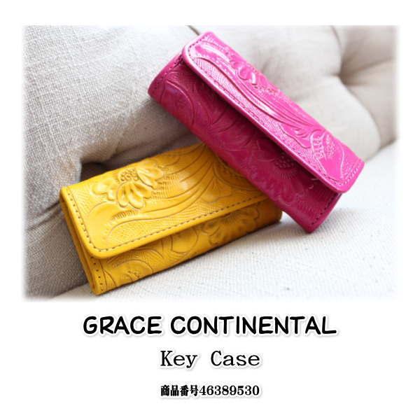 GRACE CONTINENTAL  グレースコンチネンタル カービング Key case,キーケース,キーリング,カービングシリーズ,レザー, 新作  送料無料,46389530,47089530,Carvingtribes, 楽天カード分割
